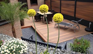 Jardins modernos por Deck-linéa