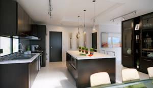 Cucina in stile in stile Minimalista di arQing