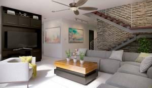 Livings de estilo minimalista por arQing