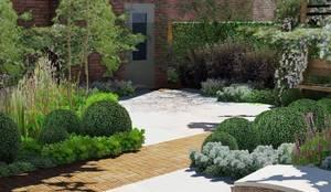 Schaduwlounge over het terras by bladgoud tuinen homify - Moderne stijl lounge ...