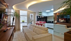 Salon de style de style Moderne par Designer de Interiores e Paisagista Iara Kílaris