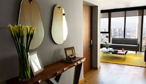 Projekty,  Korytarz, przedpokój i schody zaprojektowane przez Concepto Taller de Arquitectura