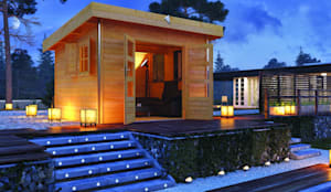 saunahaus cubus premium por karibu holztechnik gmbh homify. Black Bedroom Furniture Sets. Home Design Ideas