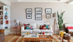 غرفة المعيشة تنفيذ Da.Hora Arquitetura