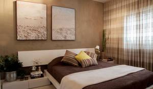 Apartamento Vila Olímpia: Quartos  por Helô Marques Associados