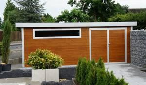gartenhaus im edlen design 3,50 m x 3,00 m mit pult- und, Garten ideen