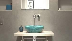 umywalka: styl , w kategorii Kliniki zaprojektowany przez dekornia,
