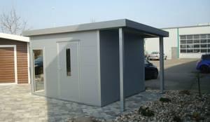 gartenhaus im edlen design 3 50 m x 3 00 m mit pult und schleppdach von trapezblech gonschior. Black Bedroom Furniture Sets. Home Design Ideas