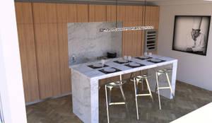 Cuisine moderne dans un appartement haussmannien von Xavier Lemoine ...