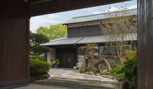 島原古民家再生: 環アソシエイツ・高岸設計室が手掛けた庭です。