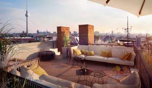 Dachterrasse Berlin Mitte:  Terrasse von loomilux