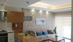 Salas / recibidores de estilo moderno por HEBART MİMARLIK DEKORASYON HZMT.LTD.ŞTİ.