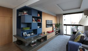 Salas de estilo moderno por MANDRIL ARQUITETURA E INTERIORES
