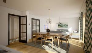 yücel partners – Taşbaşı House: iskandinav tarz tarz Yemek Odası