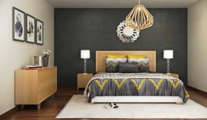 Habitaciones de estilo moderno por Lights & Shades Studios