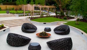 A private garden, Surrey: modern Garden by Bowles & Wyer