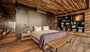 Camera da letto in stile in stile Moderno di A4estudio
