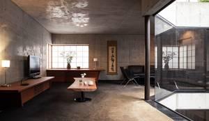 リビング: 松井建築研究所が手掛けたリビングです。