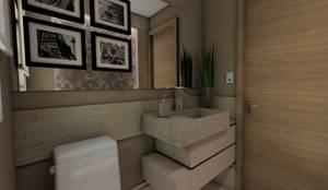 Projeto F & M: Banheiros modernos por Ricardo Cavichioni Arquitetura