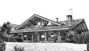 Fotos en blanco y negro: Casas de estilo  de Manuel Monroy Pagnon, arquitecto