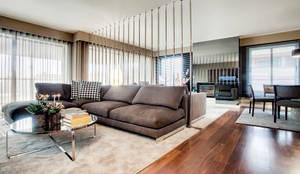 Apartamento Porto: Salas de estar modernas por Jorge Cassio Dantas Lda
