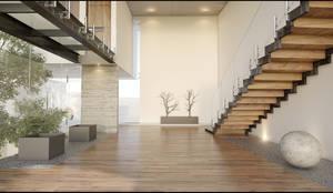 Vestibulo: Pasillos y recibidores de estilo  por 21arquitectos