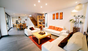 minimalistic Living room by gOO Arquitectos