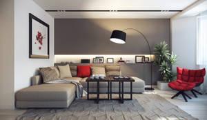 Трехкомнатная квартра в г.Новосибирск: Гостиная в . Автор – Design Studio Details