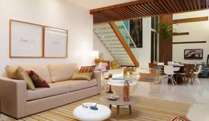 Livings de estilo minimalista por 360arquitetura