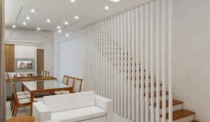 Corredores, halls e escadas modernos por Merlincon Prestes Arquitetura