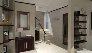 modern Corridor, hallway & stairs by AurEa 34 -Arquitectura tu Espacio-
