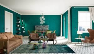Wohnwelt Vintage:  Wohnzimmer von makasa