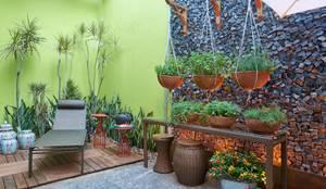 Mostra de Ambientes de Sete Lagoas - Cozinha Gourmet e Área Livre de Lazer: Jardins modernos por Lider Interiores