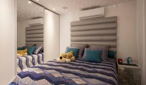 Habitaciones de estilo moderno por Sandra Sanches Arq e Design de Interiores