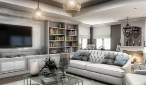 VERO CONCEPT MİMARLIK – Yunus Emre  Villa - İsveç:  tarz Oturma Odası