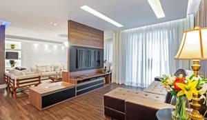 Salas multimédia modernas por Patrícia Azoni Arquitetura + Arte & Design