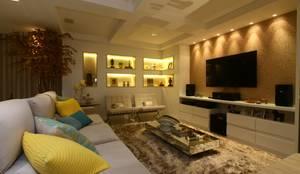 Salas de estar modernas por Oleari Arquitetura e Interiores