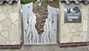 gartentor edelstahl, moderne edelstahltore von edelstahl atelier crouse - stainless steel, Design ideen