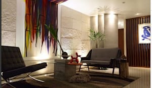 Oficinas de estilo moderno por LC Arquitectura