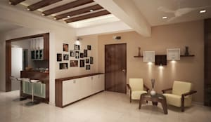 4 bedroom apartment at SJR Watermark: modern Living room by ACE INTERIORS