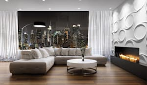 Dekorative 3d wandpaneele loft design system de loft design system deutschland homify - 3d wandpaneele betonoptik ...