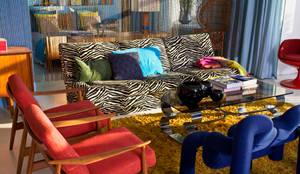 Außergewöhnliche Sitzecke im Retro-Style:  Wohnzimmer von Baltic Design Shop