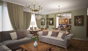 رہنے کا کمرہ  by Designer Olga Aysina