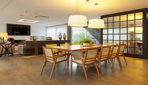 APARTAMENTO TERRAVILLE: Salas de jantar modernas por Joana & Manoela Arquitetura
