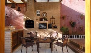 Terraços  por Juliana Zanetti Arquitetura e Interiores