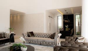 Casa Térrea - contemporânea: Salas de estar modernas por Camila Castilho - Arquitetura e Interiores