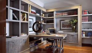 Estudio: Estudios y oficinas de estilo moderno por MARIANGEL COGHLAN