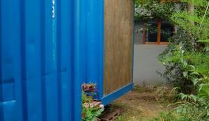 Juego de volumenes: Casas de estilo  por Guadalupe Larrain arquitecta,