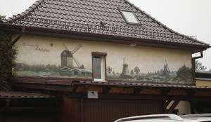 Historisches Wandbild Schwarz Weis Sepia