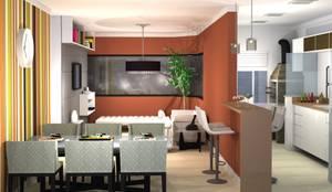 Apartamento Teresópolis Porto Alegre: Salas de estar modernas por 151 office Arquitetura LTDA